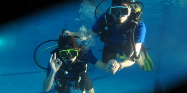 Engelli çocukların dalış sevinci