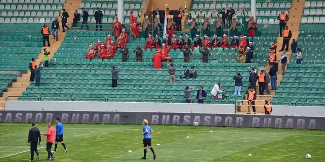 Bursaspor'a mehter takımı desteği