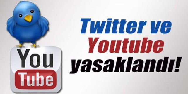 Twitter ve Youtube'a erişim yasaklandı