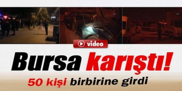 Bursa'da bir mahalle birbirine girdi