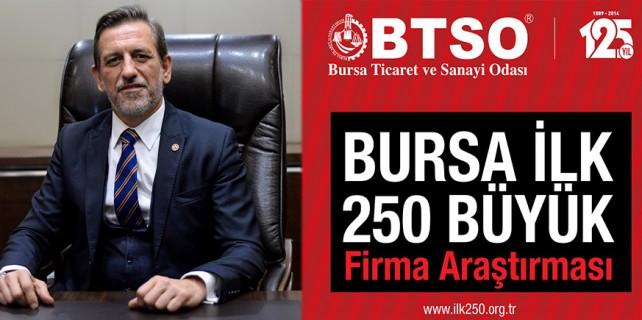 BTSO 250 büyük firma araştırması başladı