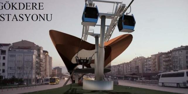 Şehir içi teleferiğe muhalefetten destek