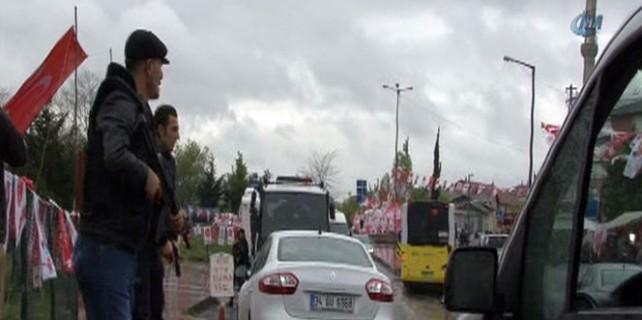 MHP seçim bürosunda silahlı gerginlik