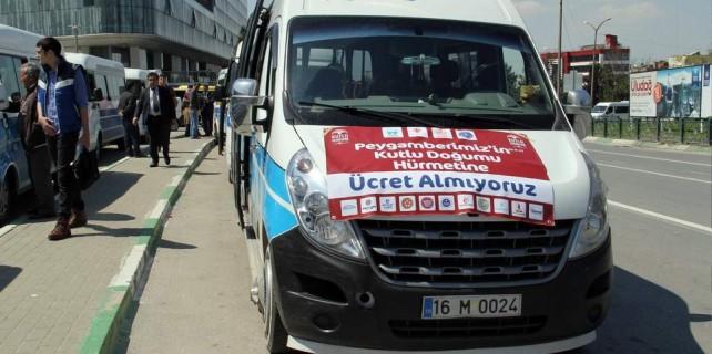Bursa'da bu minibüsler ücretsiz