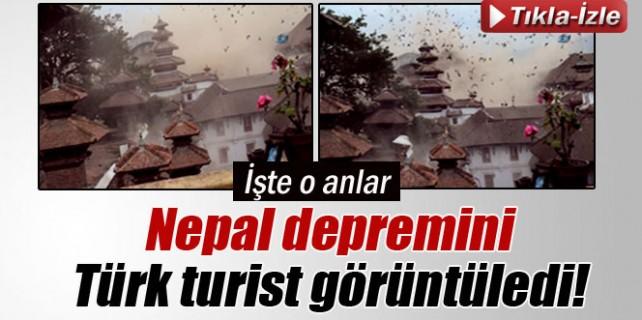 Nepal depremini Türk turist böyle görüntüledi