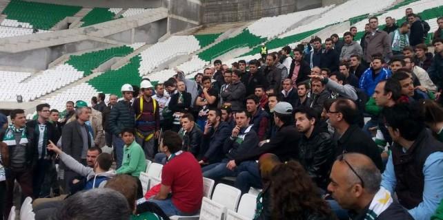 Bursaspor taraftarı Timsah Arena'ya hayran kaldı