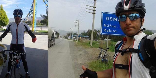 5,5 günde bisikletle Akdeniz turu yaptı