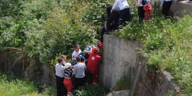 Bursa'da polisin tehlikeli iş kazası