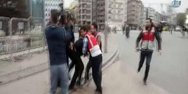 Taksim'de ortalık tekrar karıştı