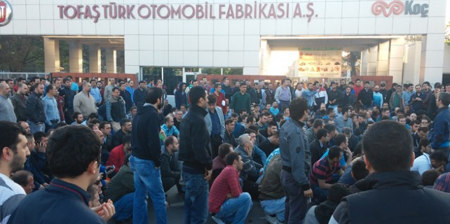 Oyak Renault'daki eylem TOFAŞ'a da sıçradı