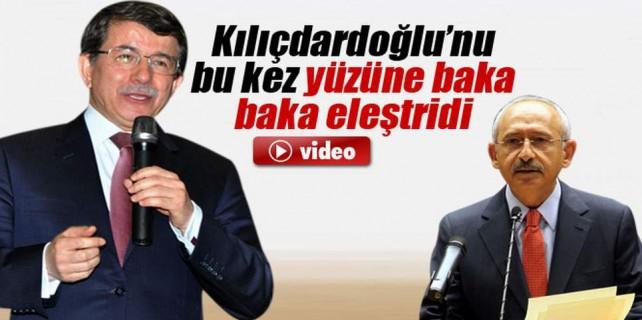Başbakan Kılıçdaroğlu'nu gözüne bakarak eleştirdi
