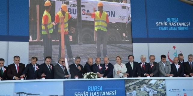 Bursa Şehir Hastanesi'ne 2 bakanlı temel atma...İşte açılış tarihi