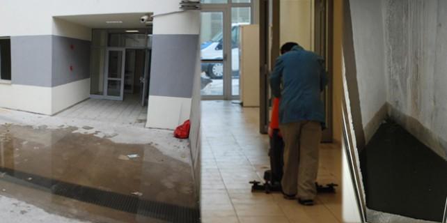 Bursa'da yeni hastaneyi su bastı
