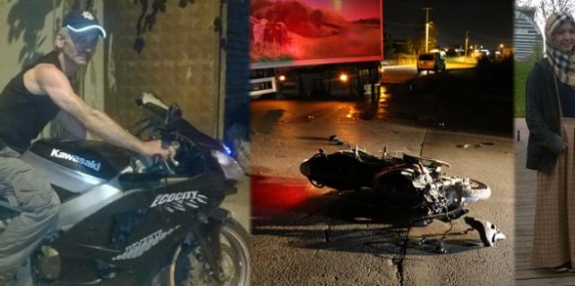 Baba ile kızını motosiklet kazası ayırdı