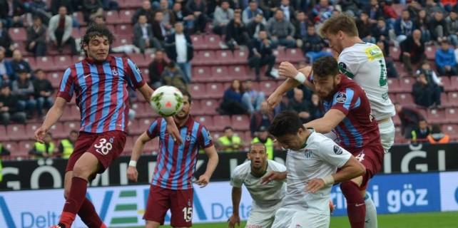 Bursaspor Trabzon deplasmanından eli boş dönüyor