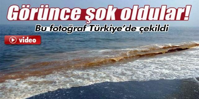 Bursa'da bir sahil daha kızıla boyandı...Deprem habercisi mi?