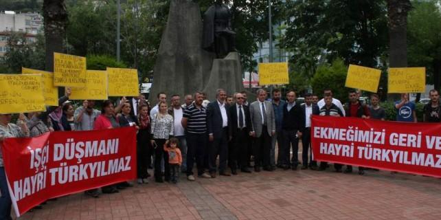 Mudanya Belediyesi'nin işten attığı 33 işçinin isyanı