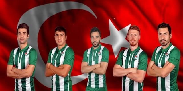 Bursaspor'da 5 milli forma sevinci