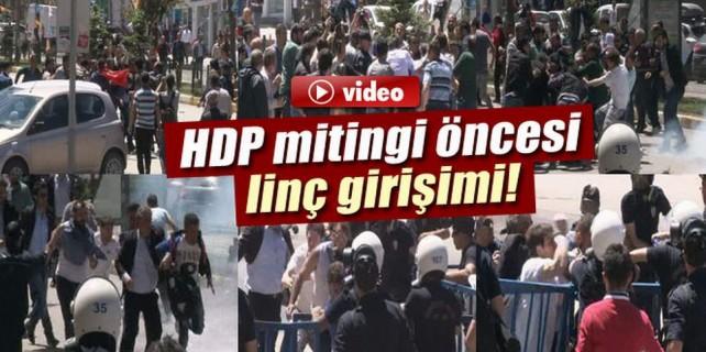 HDP mitingi öncesi olaylar çıktı
