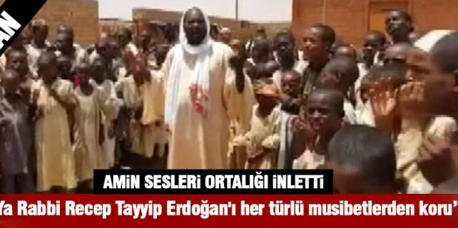 Tayyip Erdoğan'a binlerce kilometre öteden dua