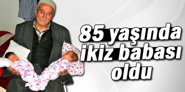 85 yaşında ikiz babası oldu