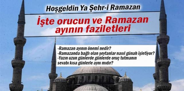 Orucun ve Ramazan ayının faziletleri