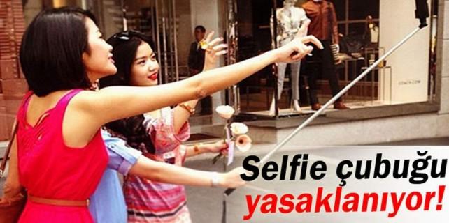 Selfie çubuğunu yasakladılar