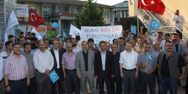 Türkistan'daki zulme Bursa'dan isyan var