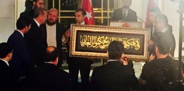 Bursa'dan Beştepe'ye çok anlamlı hediye