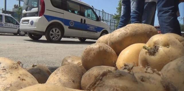 Bursa'da spot patates ve soğancılara operasyon