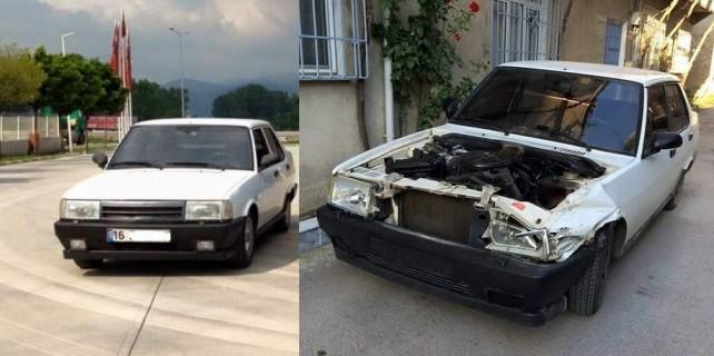 Çalınan otomobil sosyal medyadan çıktı