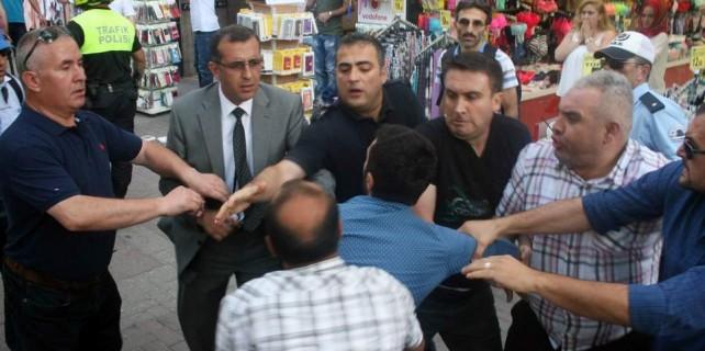 Bursa'da Suruç eyleminde olaylar çıktı