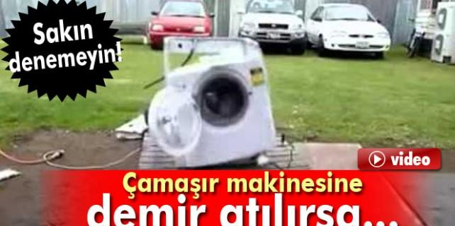 Çamaşır makinesine demir atılırsa