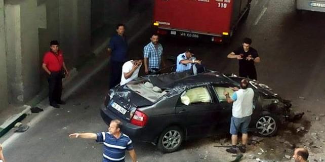 Bursa'da akıl almaz kaza...Faciaya kılpayı