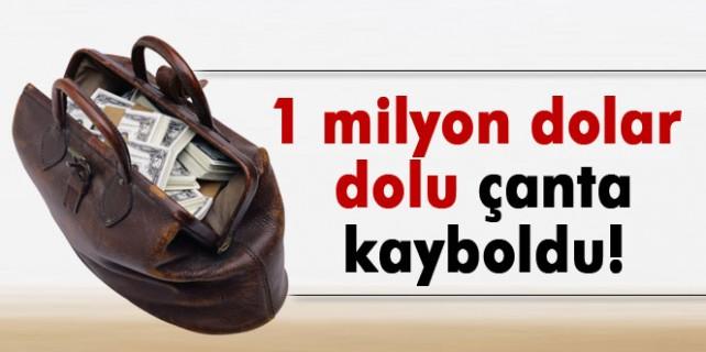 1 milyon dolar dolu çanta kayboldu
