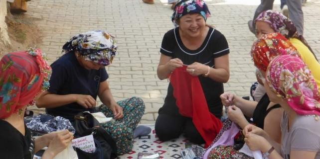 Japon kadınların Bursa'da iğne oyası aşkı