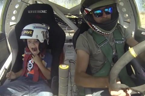 Oğluyla test sürüşüne çıktı rekor kırdı