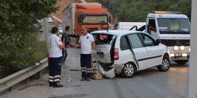 Bursa'da büyük kaza ucuz atlatıldı