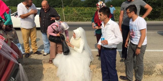 Düğün yolunda can pazarı