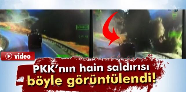 PKK'nın hain saldırısı böyle görüntülendi...