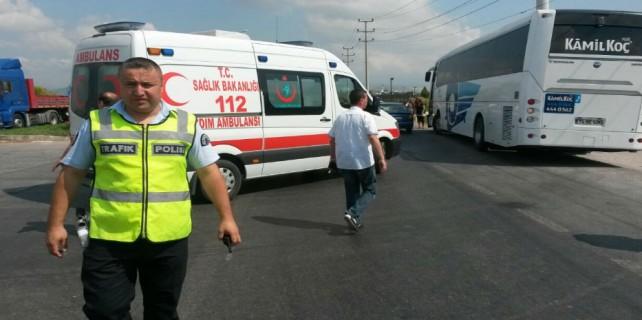 Bursa'da acı ölüm...Ölüm yolcu otobüsüyle geldi
