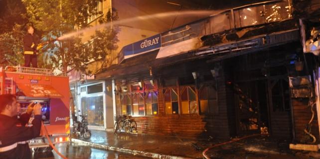 Restorana molotoflu saldırı