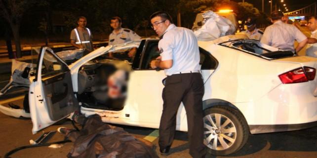 Bursa'da aşırı hız 3 gencin canına mal oldu