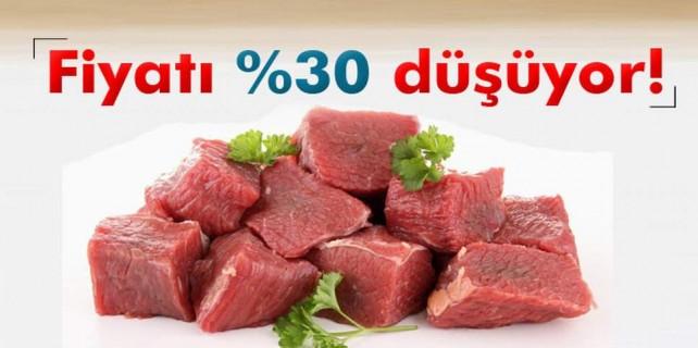 Kırmızı etin fiyatı yüzde 30 düşüyor