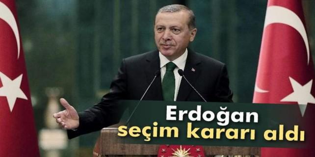 Erdoğan seçim kararı aldı