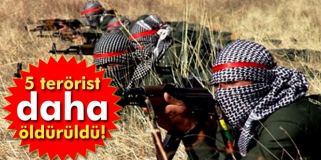 5 terörist öldürüldü 7 terörist teslim oldu