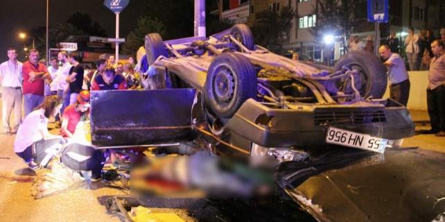 Bursa'da aşırı hızla gelen facia