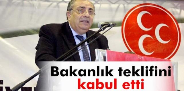 Tuğrul Türkeş bakanlığa evet dedi