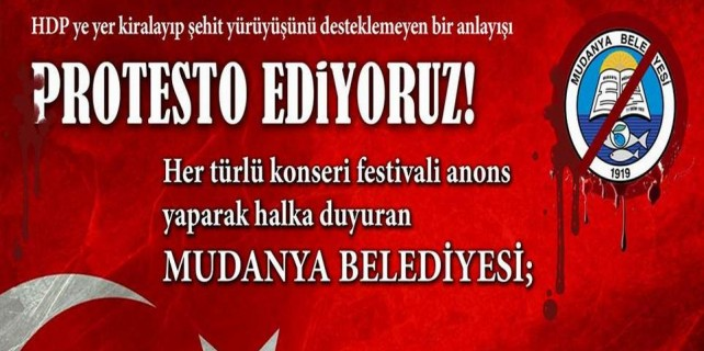Mudanya'da, belediyeden HDP'ye var şehit yürüyüşüne yok...
