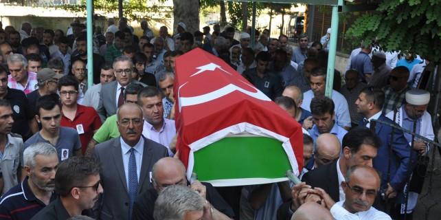 Çatışmada yaralanan İnegöllü polis son yolculuğuna uğurlandı
